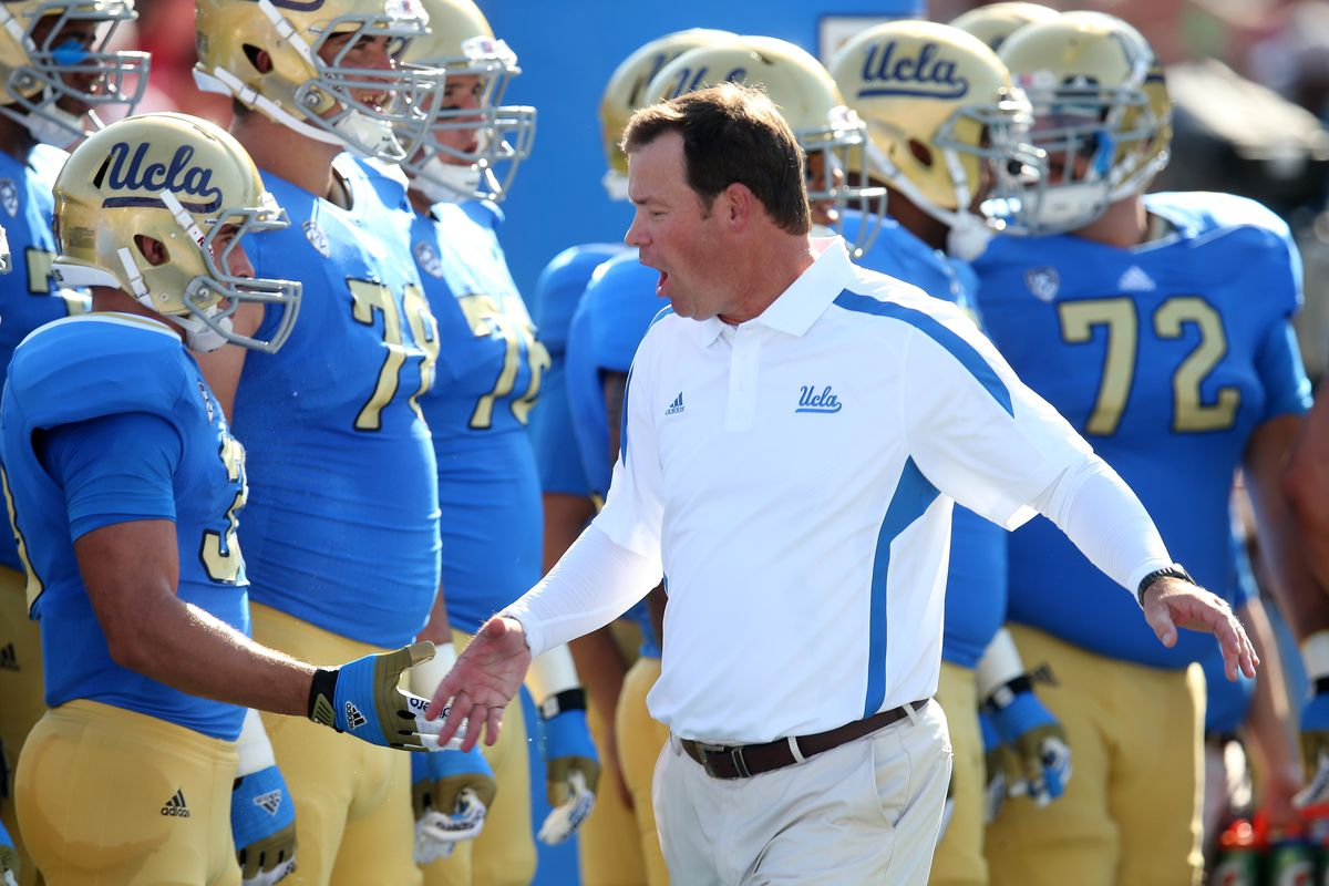 UCLA football coach Jim Mora and other Bruins welcome gay athletes