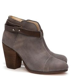 """<b>Rag and Bone</b> Harrow booties in grey, $495 at <a href=""""http://www.intermixonline.com/product/shoes-and-handbags/all+shoes+-+handbags/rag+%26+bone+harrow+booties-+grey.do?sortby=ourPicks"""">Intermix</a>."""