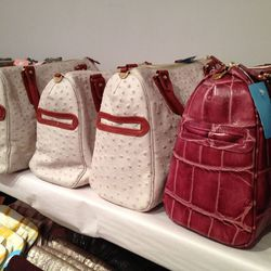 There were a few larger bags amid the clutches. The Paige, usually $525, is now $195.