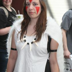 Kallie Scharder of Salt Lake City was one of many Comic Con goers to participate in cosplay, or costume play. With more than 50,000 tickets sold, Comic Con goers filled the convention halls to the max during the final day of the convention.