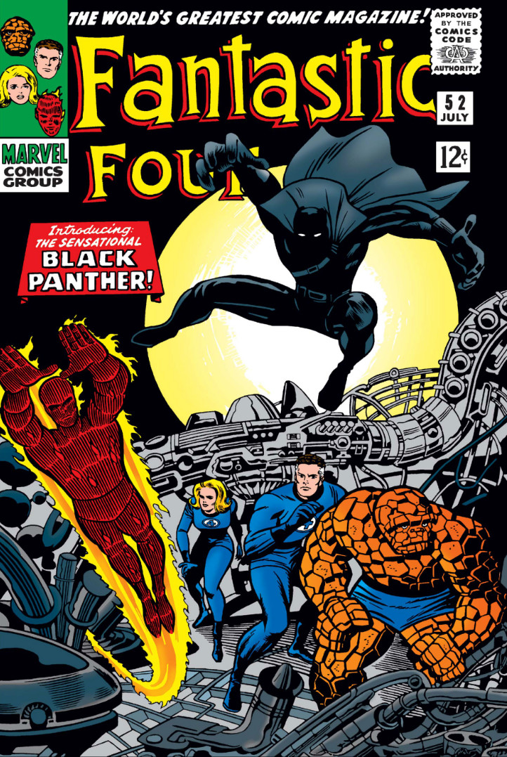 Fantastic Four #52 cover - intro to Black Panther