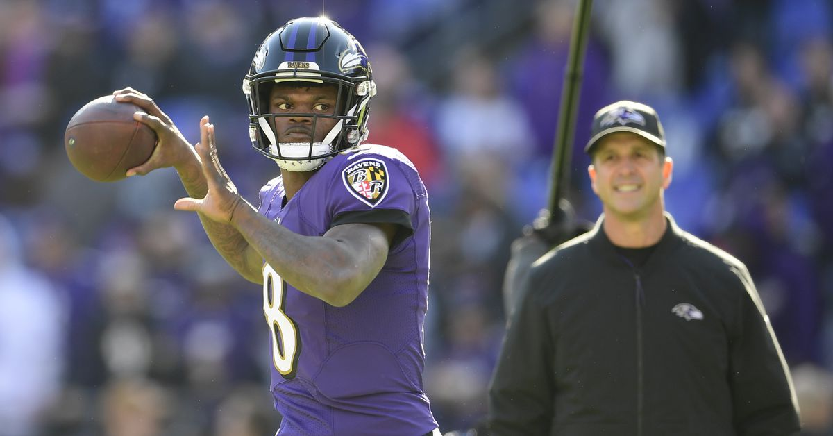 Ravens head coach John Harbaugh comes to the defense of QB Lamar Jackson