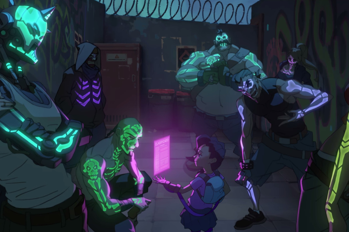 Sombra, as a child, in her Origins animation.