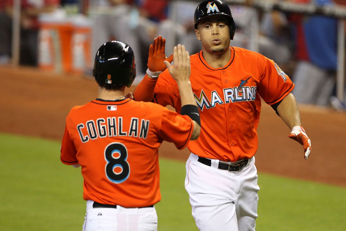 It may be on Chris Coghlan and prospect Marcell Ozuna to replace Giancarlo Stanton in the lineup.