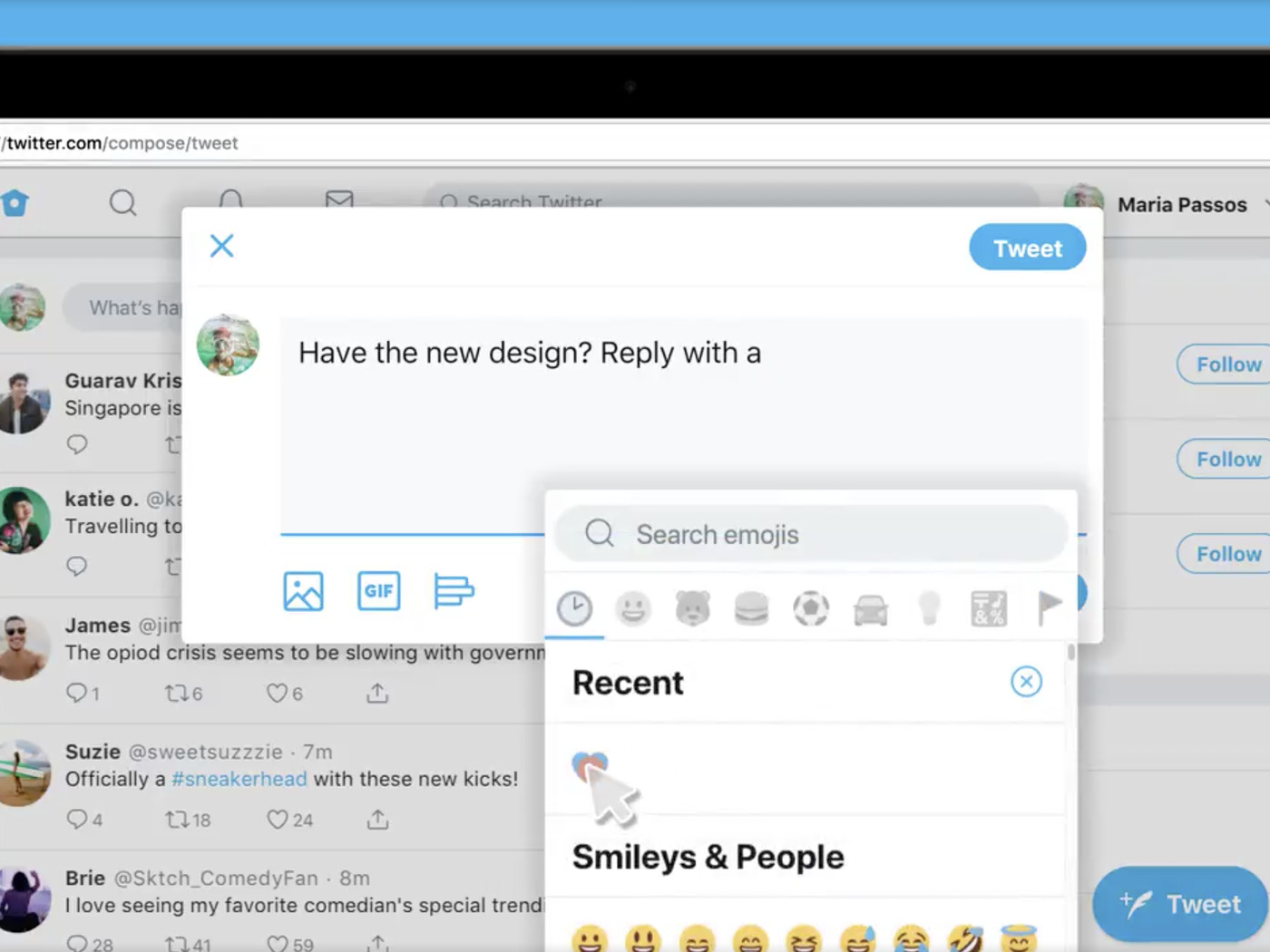 Twitter is rolling out a new web interface, including an