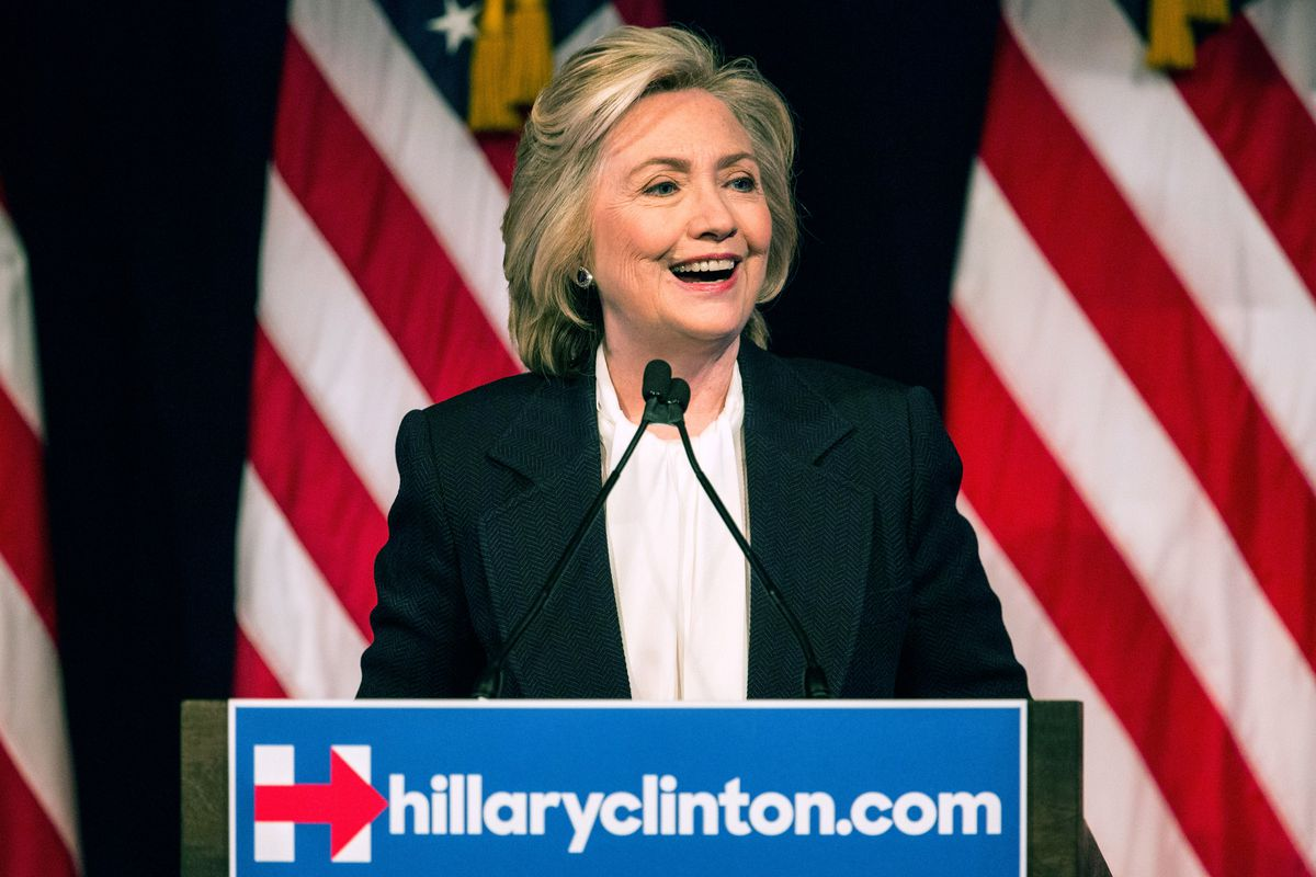 Democratic presidential candidate Hillary Clinton speaks at The New School on July 13, 2015 in New York City.