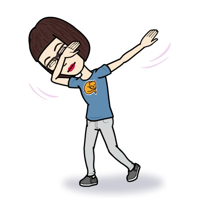 """Susan Liehe's dabbing Bitmoji. She recently changed her Bitmoji outfit to depict an image of her orange tabby, Roger. """"She was the one who told me you could change the outfits,"""" said her daughter, Susie Trujillo. """"I didn't knowthat."""""""