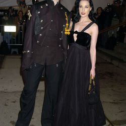 Never forget the time Marilyn Manson dated Dita Von Teese and consequently scored a ticket to the year's hottest fashion party. At least he seemed happy to be there!