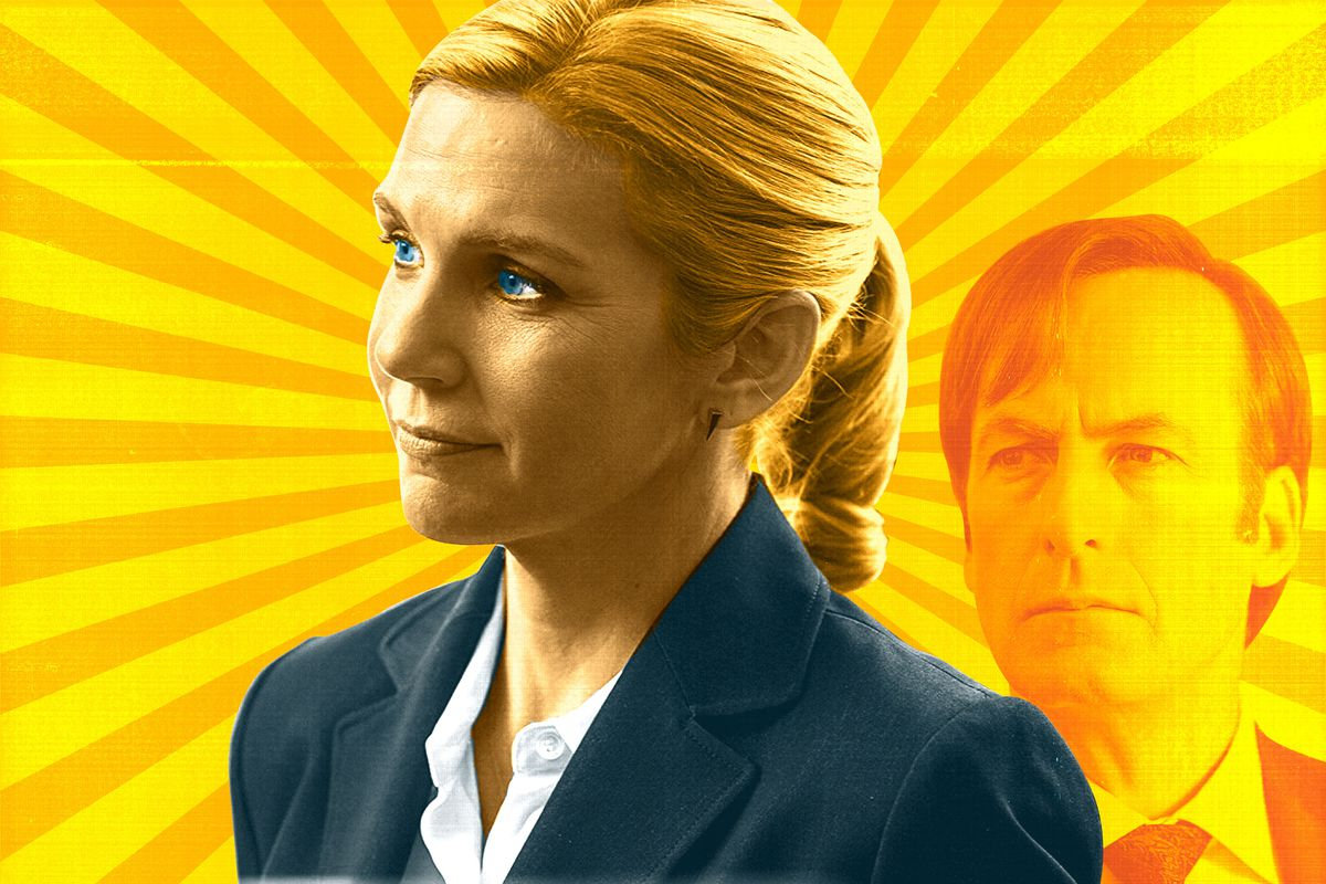 A photo illustration of Kim Wexler and Jimmy McGill from 'Better Call Saul'
