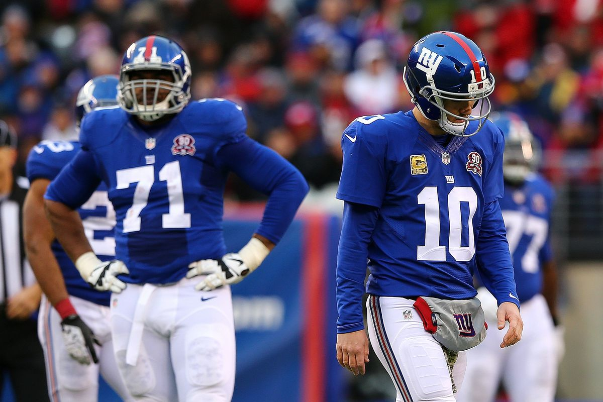 Charles Brown (71) was forced into action when Justin Pugh left Sunday's game