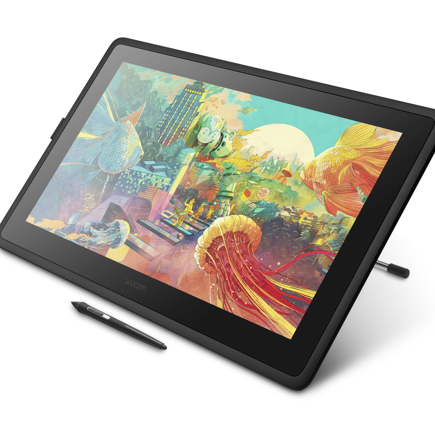 Wacom S New Cintiq 22 Is A Bigger Addition To Its Entry Level Pen Display Line The Verge