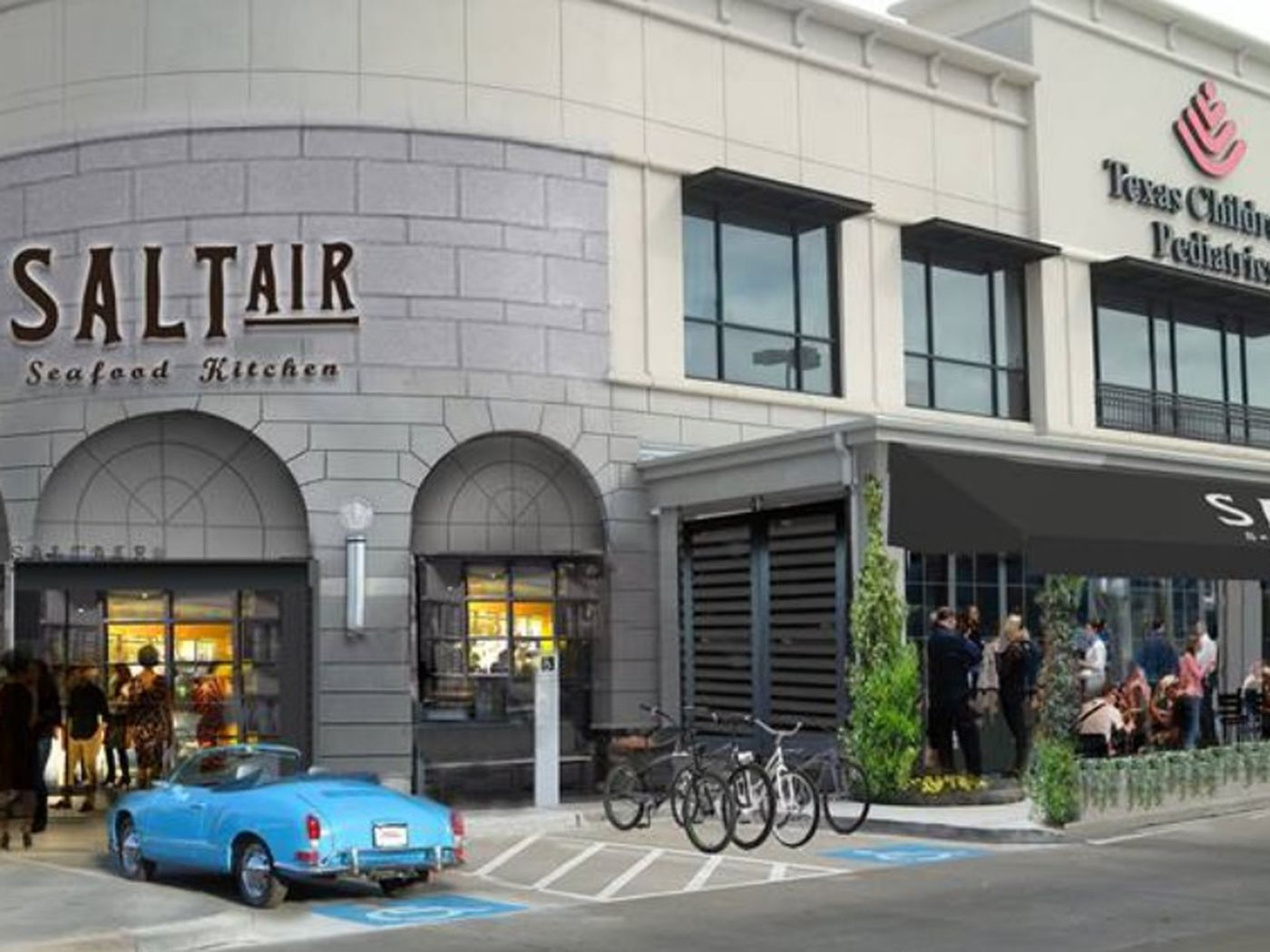 Check Out a Rendering of SaltAir Seafood Kitchen - Eater Houston