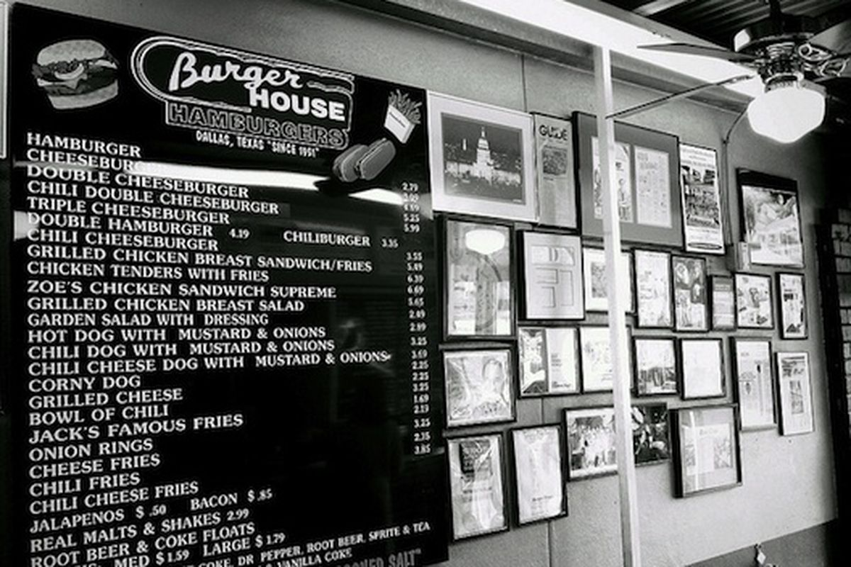Burger House, Dallas.