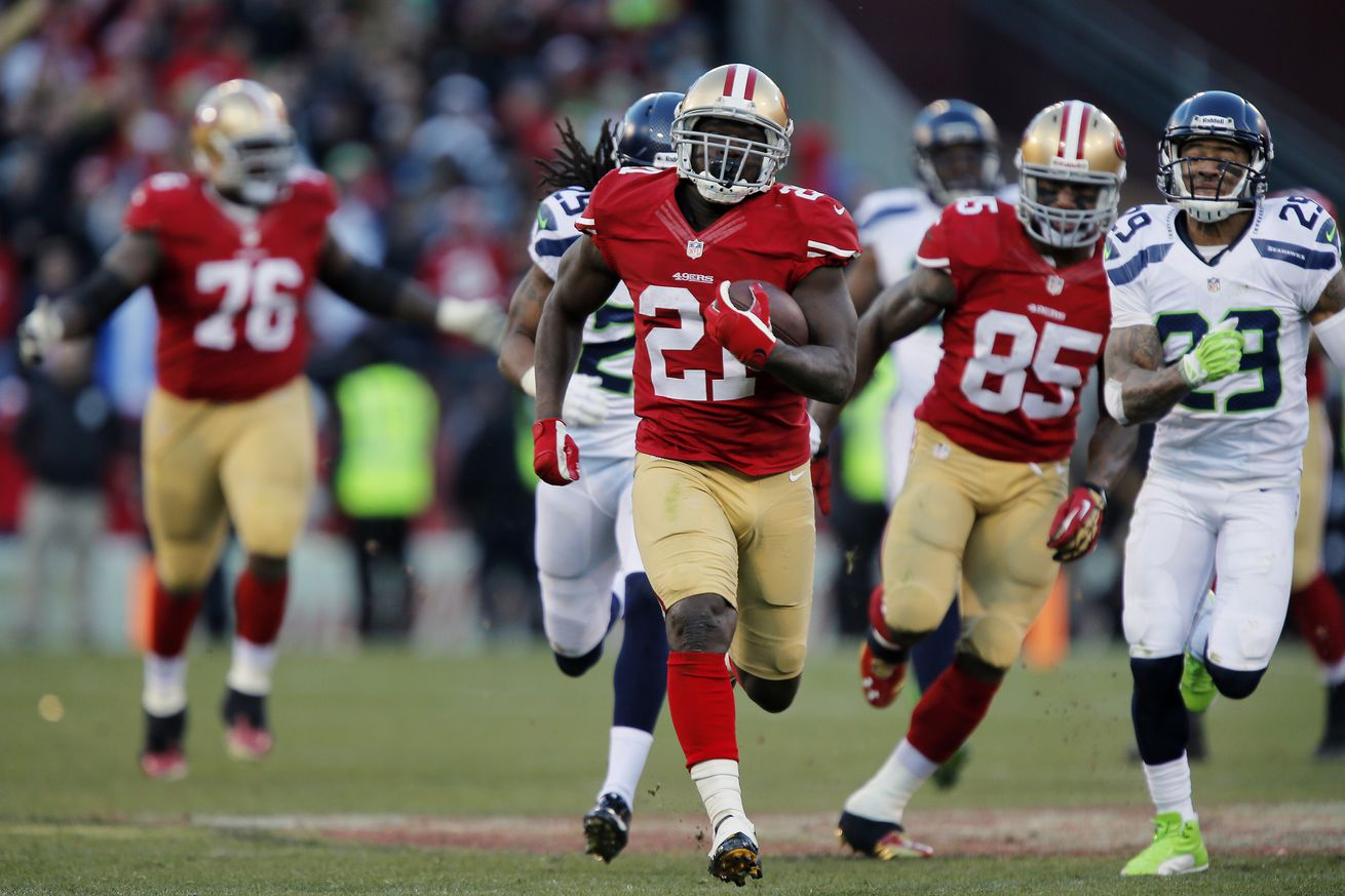 Ranking of the top 25 running backs in NFL history doesn't include Frank Gore