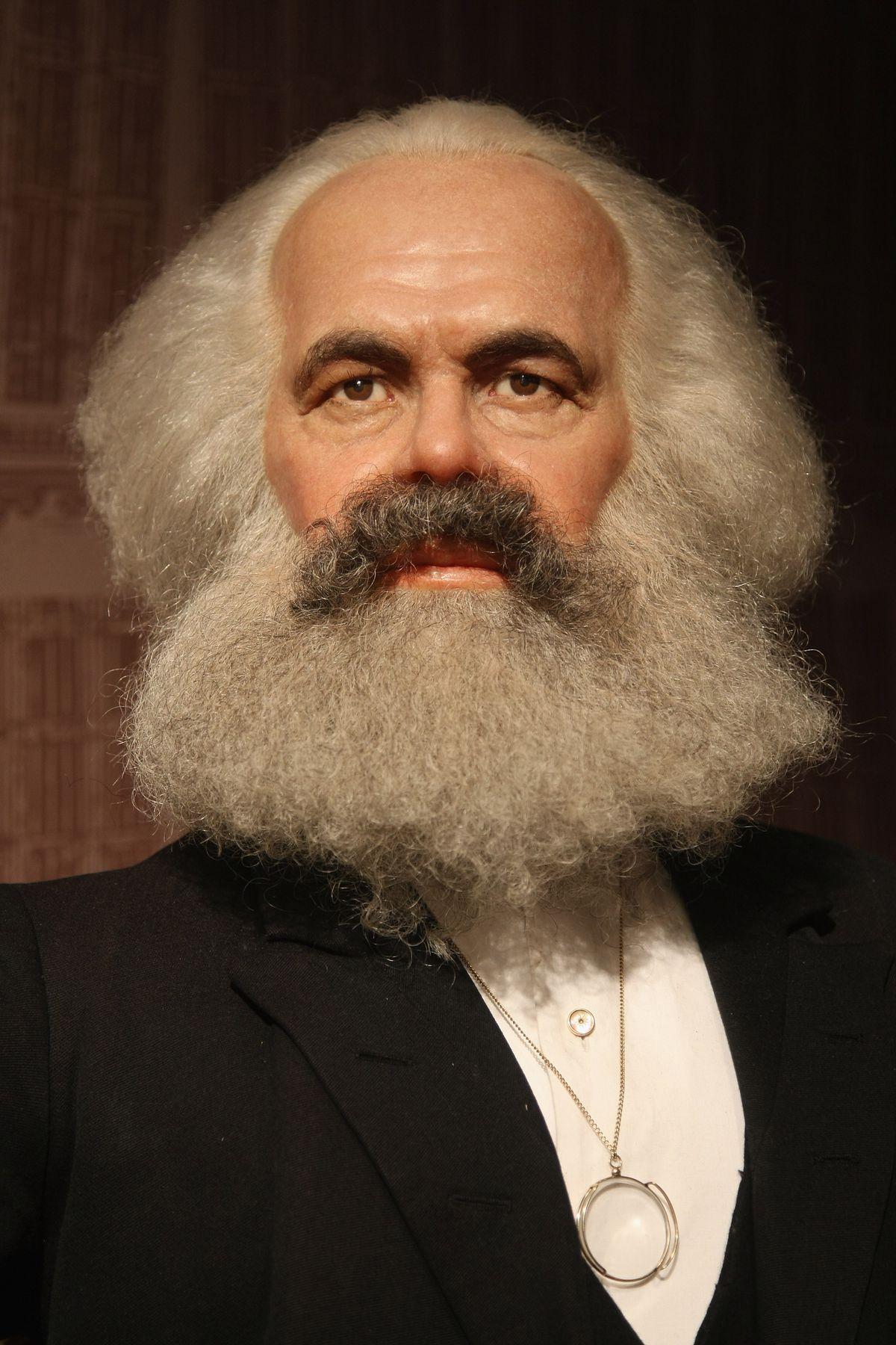 Karl Marx Wax Figure at Madame Tussauds