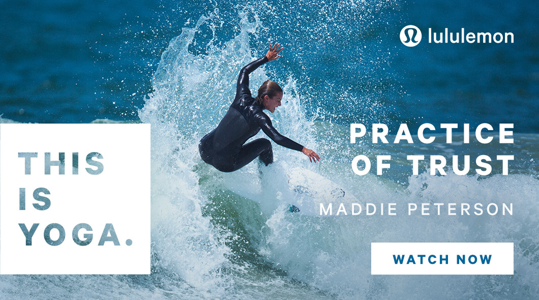Professional surfer Maddie Peterson in Lululemon's  first ads