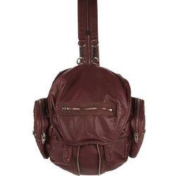 "<b>Alexander Wang</b> Marti bag, <a href=""http://www.alexanderwang.com/shop/accessories/bags/all/204035/marti-in-burgundy-washed-lamb-with-black-nickel"">$850</a>"