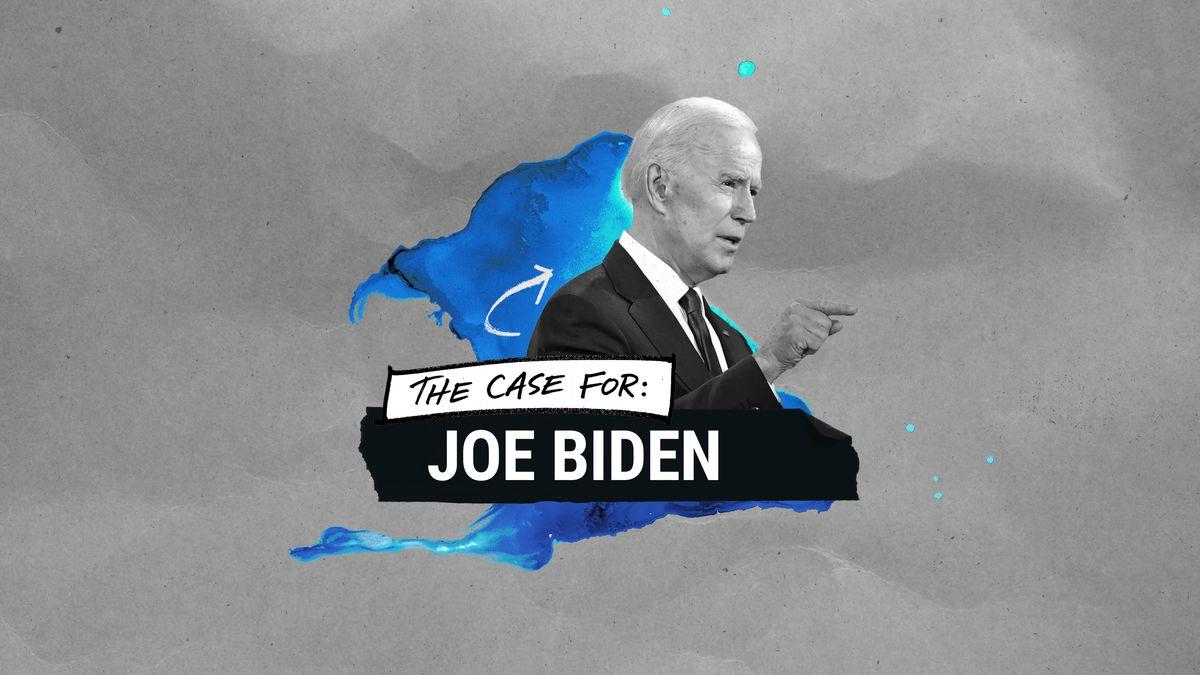 "An illustration saying ""The case for Joe Biden"""