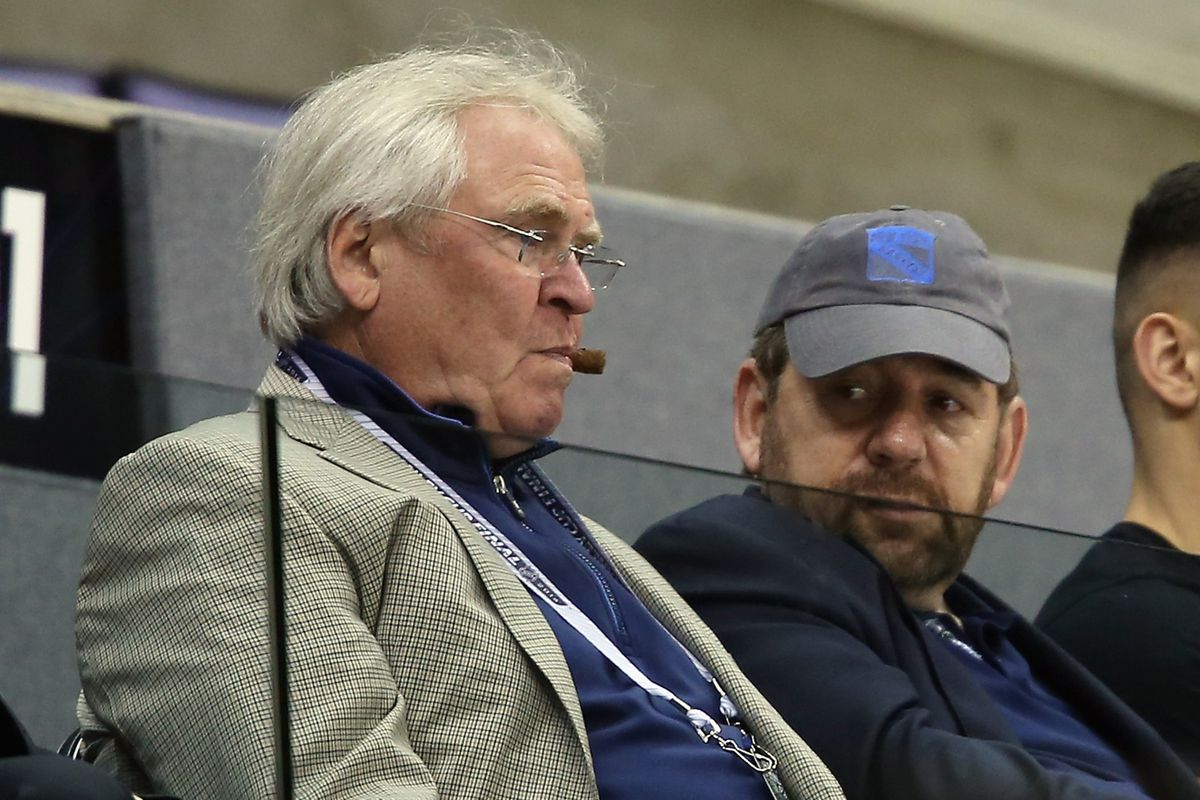 """Nothing says """"Glen Sather"""" quite like a picture of him chomping on a cigar."""