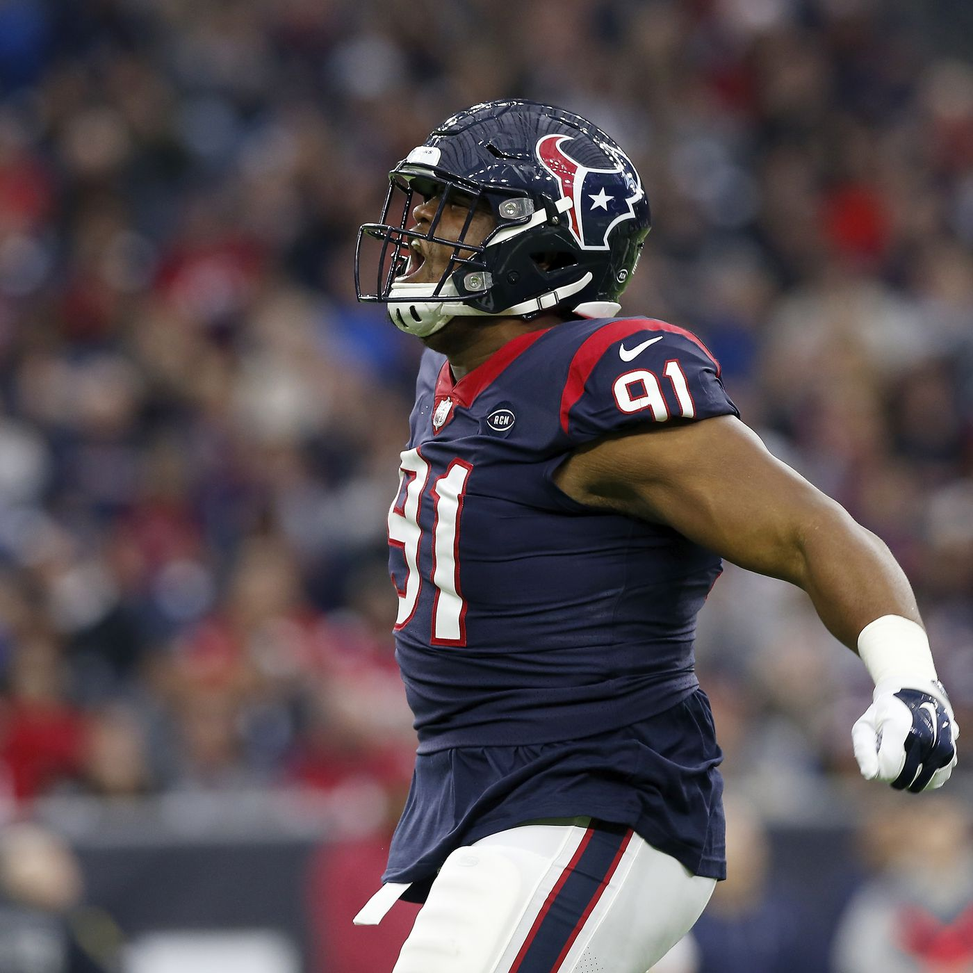 online store b3ceb 480ef Carlos Watkins is a dump truck on the field when the Texans ...