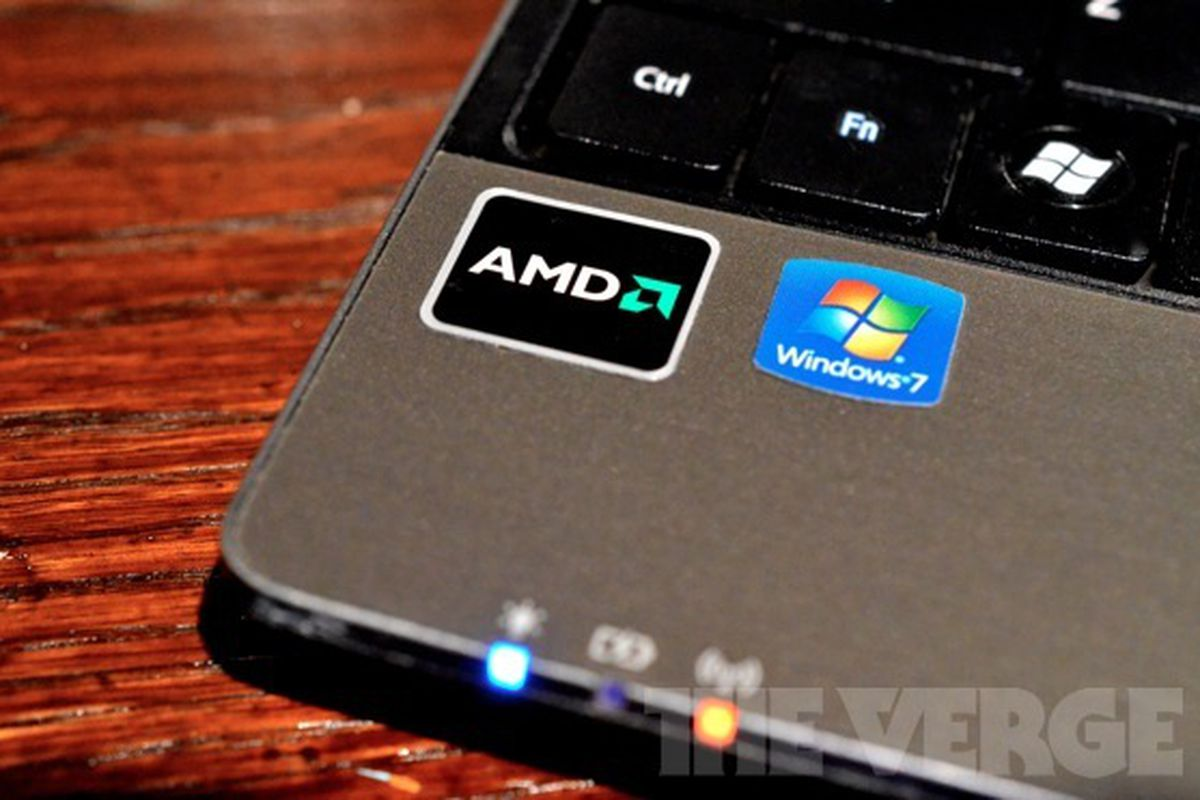 amd logo on laptop big