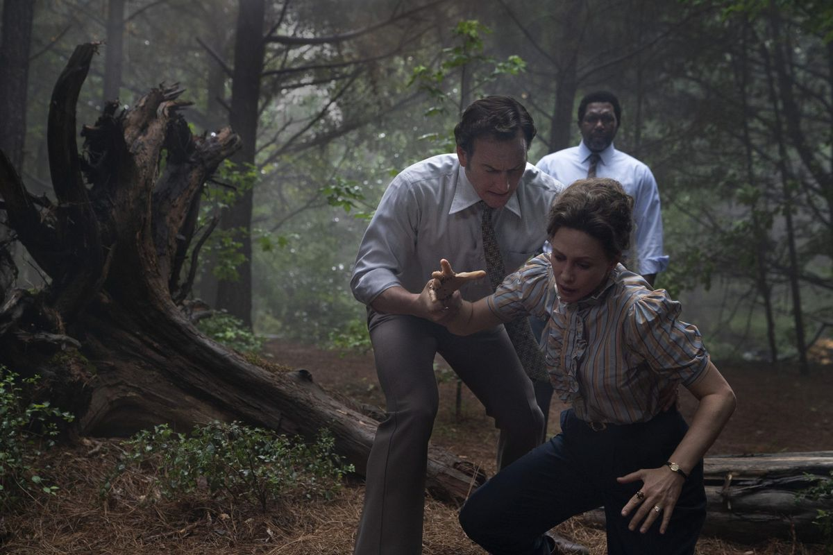 The Conjuring 3: Patrick Wilson and Vera Farmiga as paranormal investigators Ed and Lorraine Warren in The Conjuring: The Devil Made Me Do It