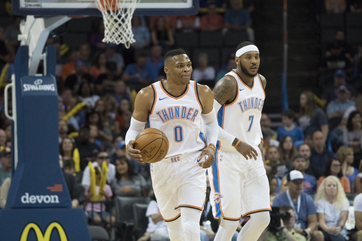Russell Westbrook and Carmelo Anthony