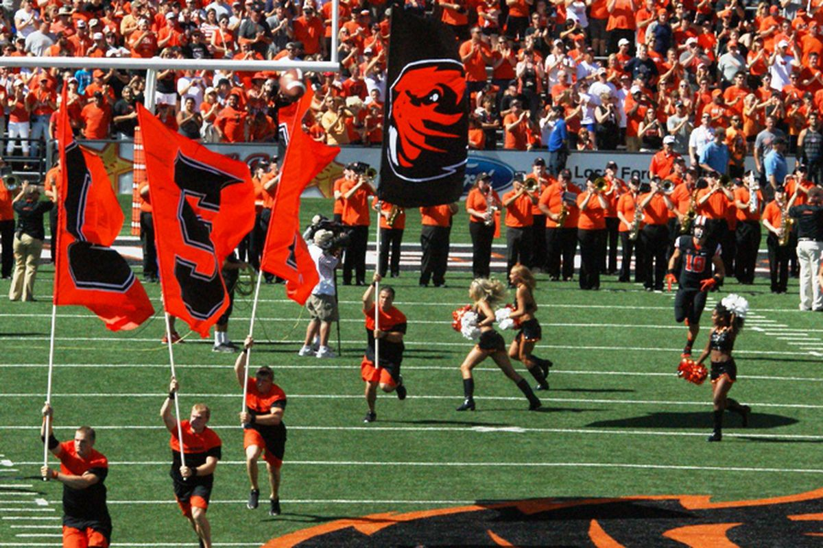 There will be 1 less home game in 2017 at Reser Stadium.