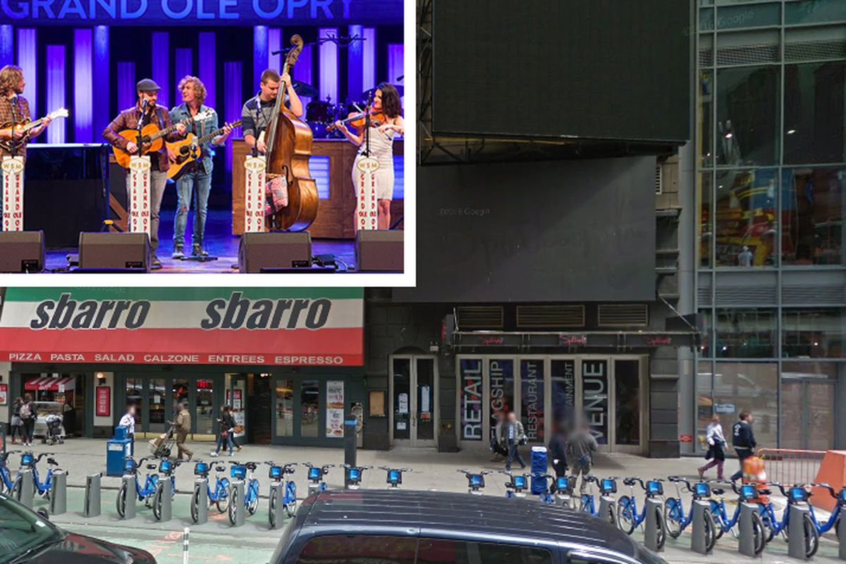 Times Square Photo Via Google Maps Grand Ole Opry Facebook