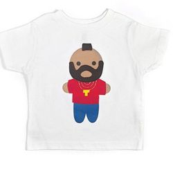 """Looks like Mr. T Toddler T-Shirt by Mi Cielo, <a href=""""http://www.brika.com/looks-like-mr-t-toddler-t-shirt-white"""">$25</a>"""