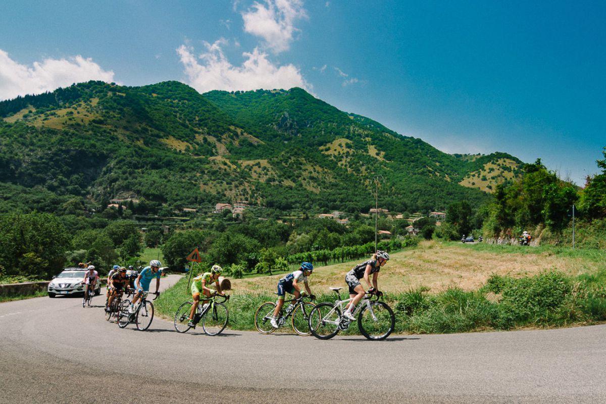 Valentina Scandolara in the Stage 3 breakaway, 2014 Giro Rosa