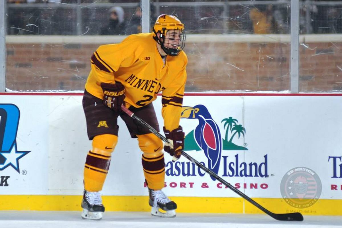 University of Minnesota junior defenseman Brady Skjei