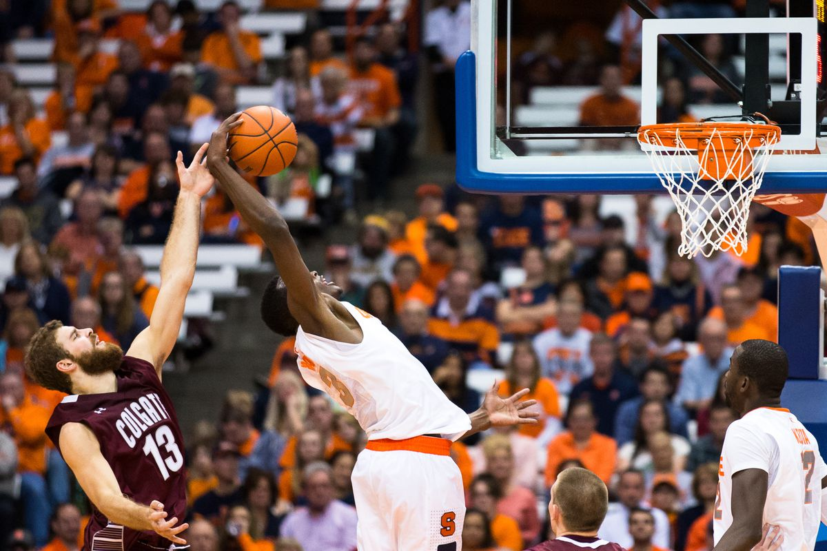 Syracuse will play in one of eight top 25 match-ups this week.