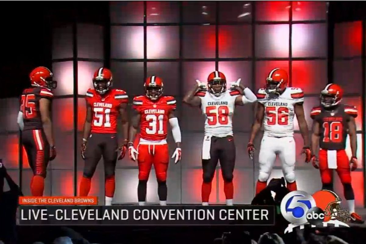 f28dc32a8 A new era began in Cleveland on Tuesday night as the Browns officially  unveiled their new uniforms by Nike. The team hosted an
