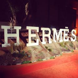 The iconic Hollywood sign was Hermes-ified on the orange carpet. Yes, orange.