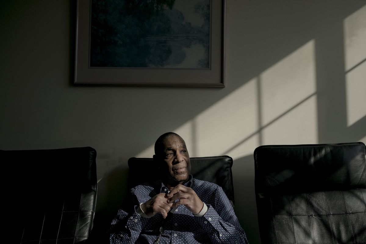 "Darrell Hodge, a former slave treatment patient, now works with slave patients at Baltimore's REACH therapy program. ""If I could get across, I wanted to share it,"" he said."