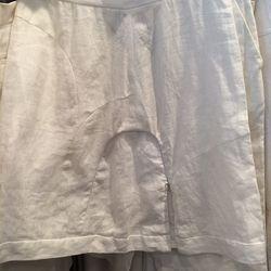 Linen skirt, $60