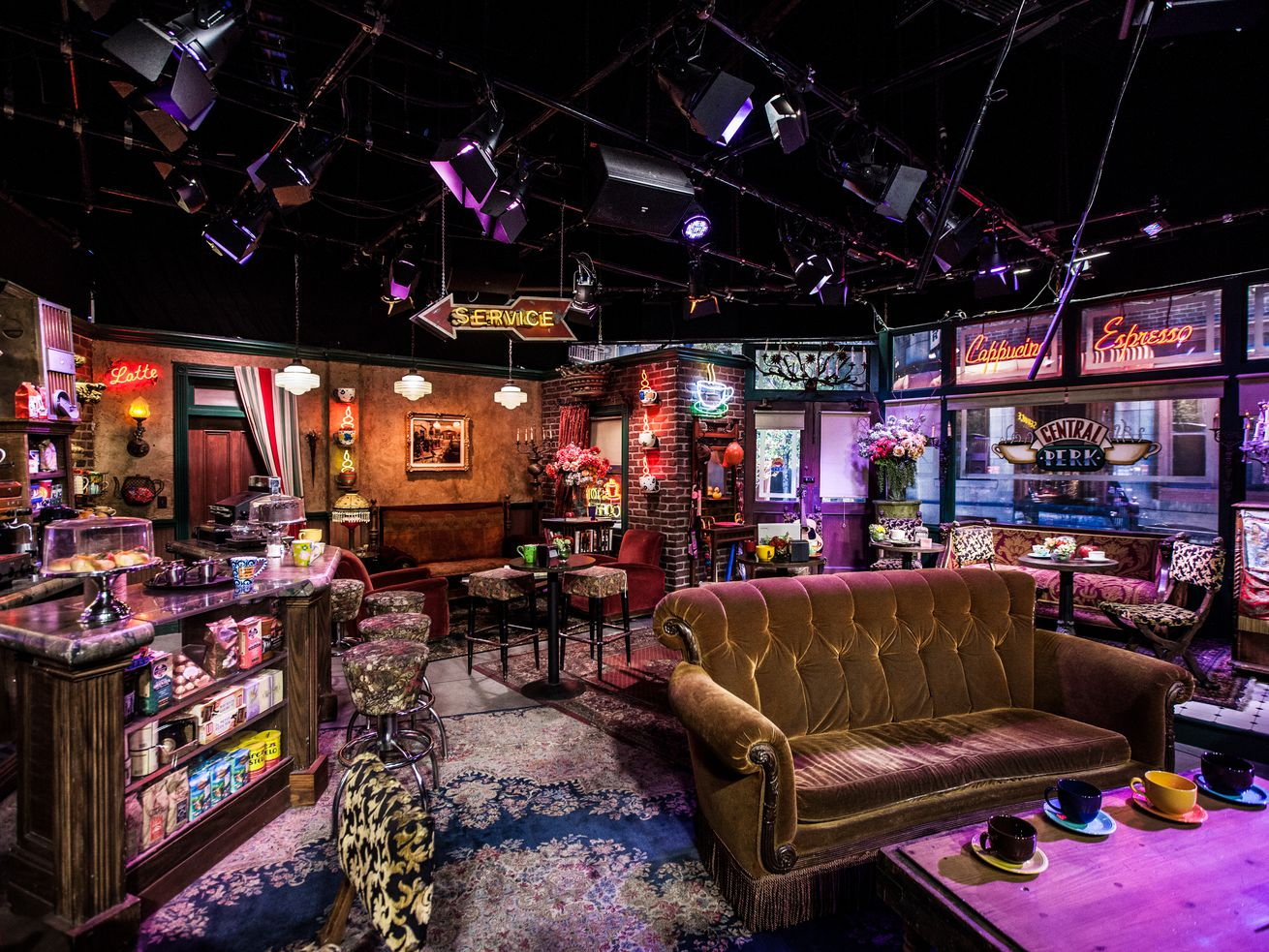"A set with the Central Perk from the TV show ""Friends"""