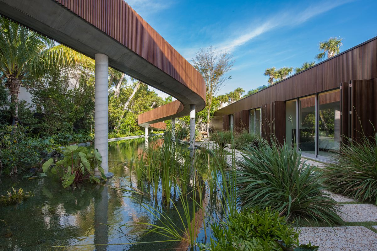 stunning miami beach contemporary with 200 ft bridge lists for 30m