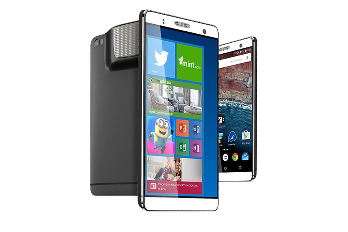 fb56afb77924ab The Holofone Phablet is a 7-inch Android phone / Windows PC with a built-in  projector