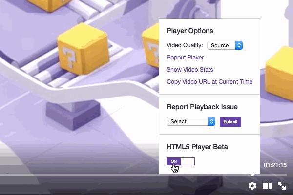 Twitch HTML5 player