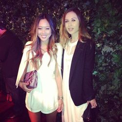 """""""Reunited with @songofstyle! #qvcredcarpet"""" - <a href=""""http://instagram.com/p/WDuhqbg7na/""""target=""""_blank"""">Rumi Neely</a>"""
