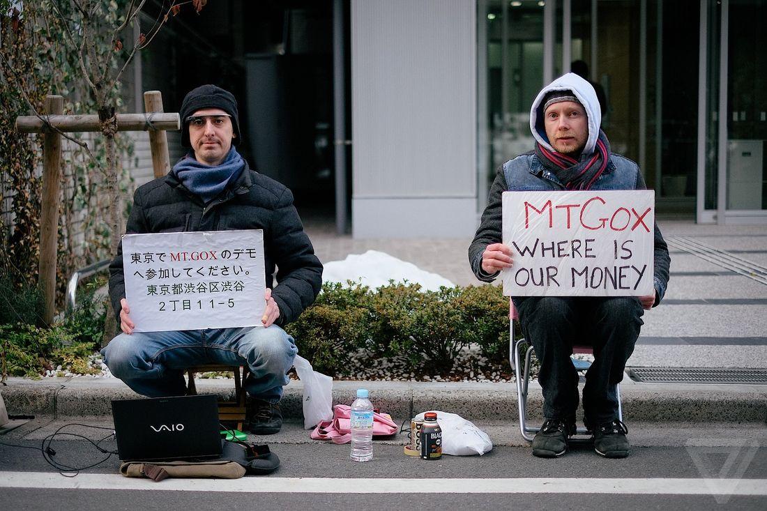 mt gox hq bitcoin protest