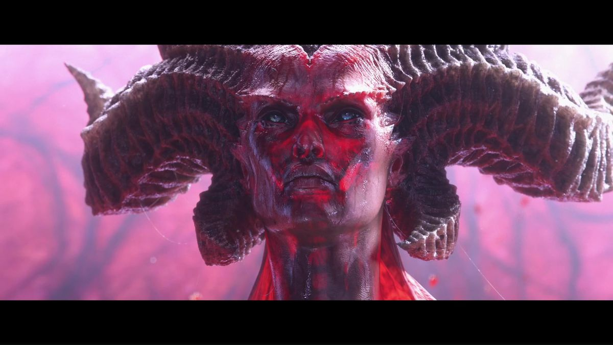 Lillith, as shown in the cinematic reveal trailer for Diablo 4.