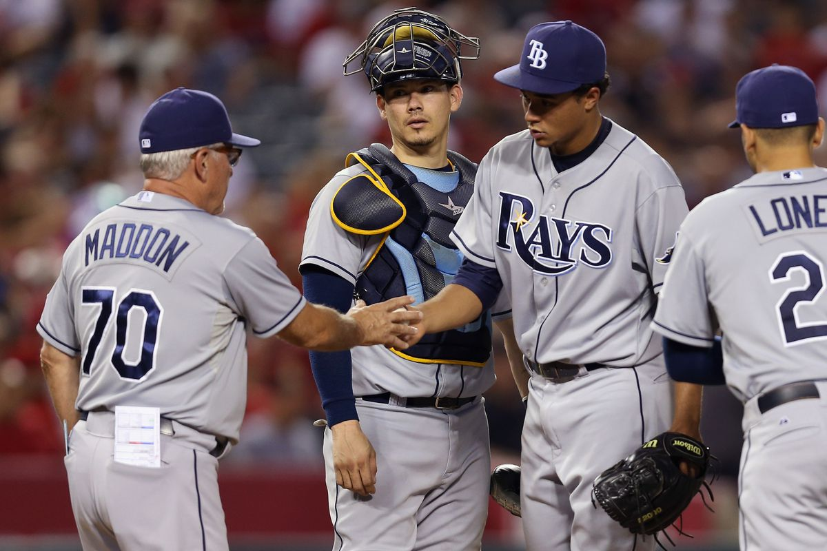 A former Angel and current Ray: the strongest connection between the two clubs, Joe Maddon.
