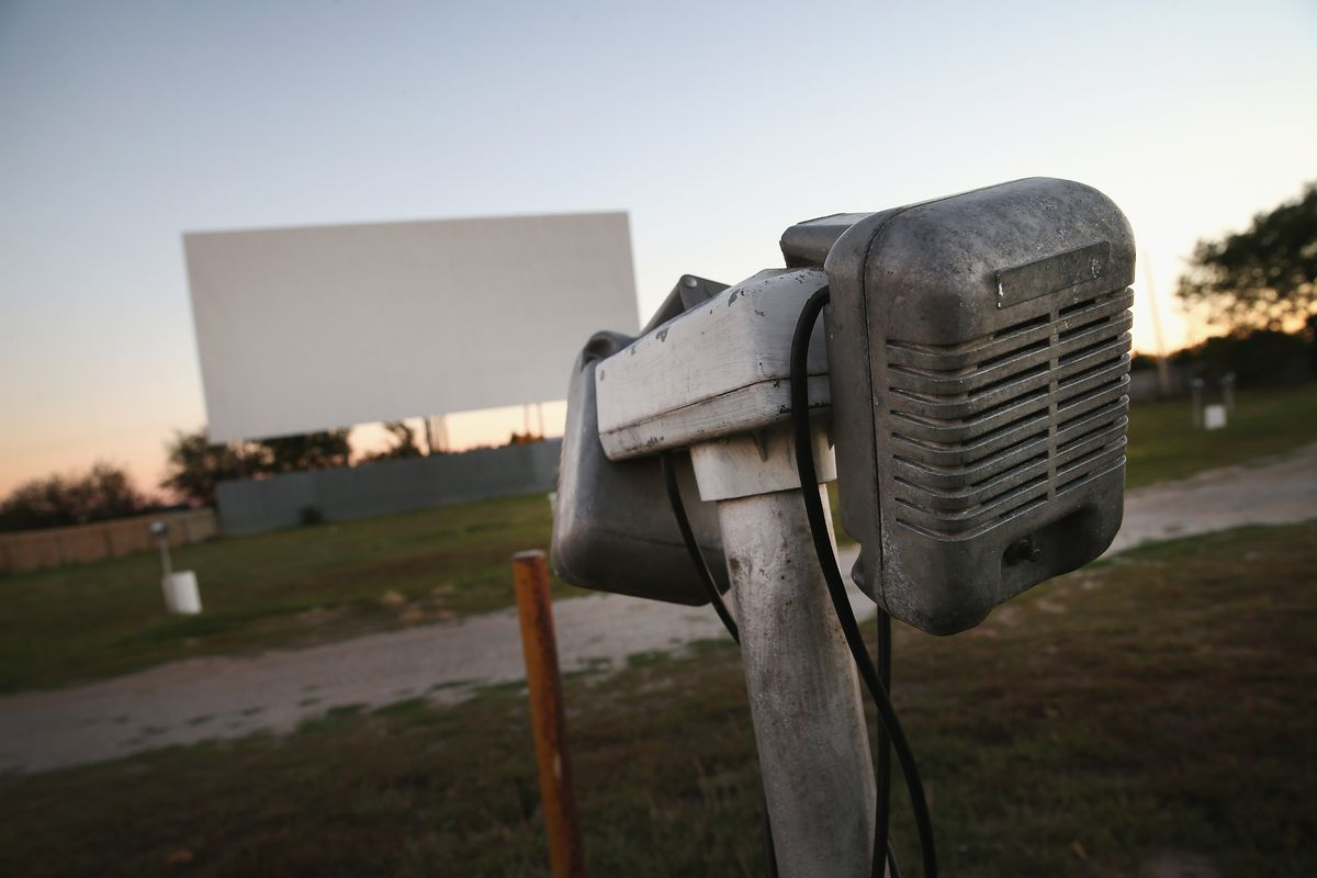 A drive-in theater threatened with closure by digital film