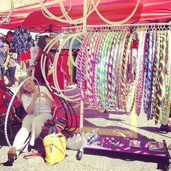 What's a flea market without a hula hoop stand?
