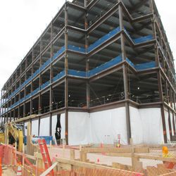 12:47 p.m. View of the northeast corner of the the plaza building -