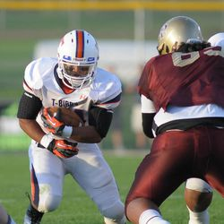 Timpview's Gregson Aspinall ran for a lot of yards in the second half as Timpview reigned supreme over Lone Peak 36-33.