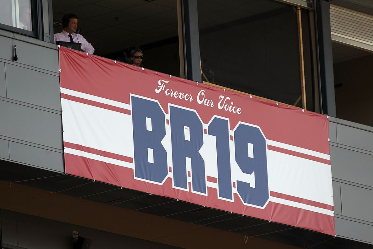FRISCO, TX - SEPTEMBER 24:  A tribute for former player and current commentator, Bobby Rhine of FC Dallas at Pizza Hut Park on September 24, 2011 in Frisco, Texas.  (Photo by Ronald Martinez/Getty Images)